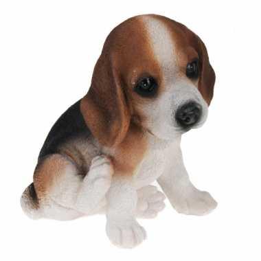 Bruin Beagle hond beeldje kopen