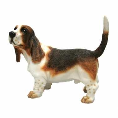 Decoratie beeld basset hond beeldje kopen