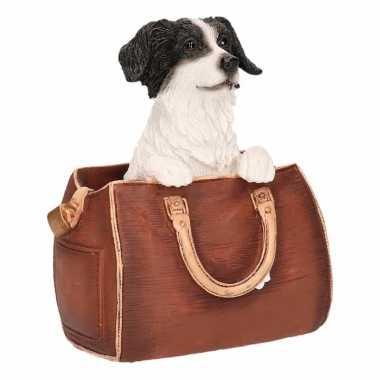 Decoratie beeld border collie hond tas beeldje kopen