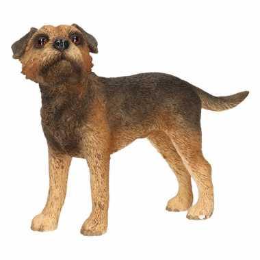 Decoratie beeld border terrier hond beeldje kopen