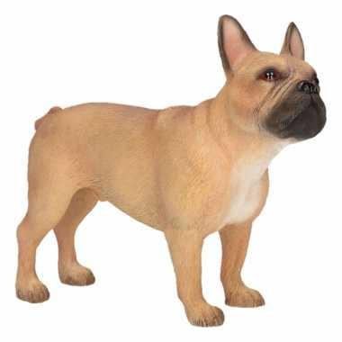 decoratie beeld bruine franse bulldog hond beeldje kopen | beeldjes
