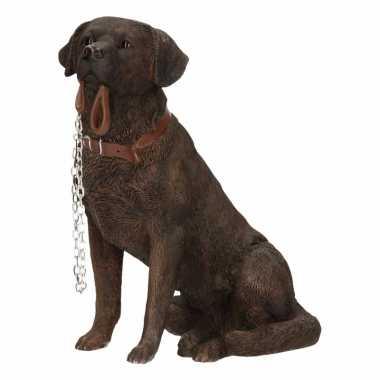 Decoratie beeld bruine Labrador beeldje kopen