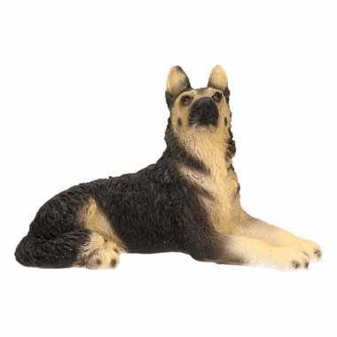 Decoratie beeld duitse herdershond beeldje kopen