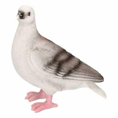 Decoratie beeld duiven vogel grijs beeldje kopen