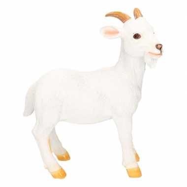 Decoratie beeld geiten/bokken wit beeldje kopen