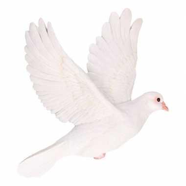 Decoratie beeld witte duif beeldje kopen
