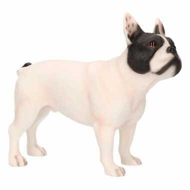 Decoratie beeld witte franse bulldog hond beeldje kopen