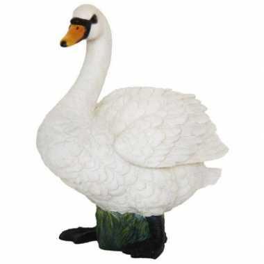 Decoratie beeld witte zwaan beeldje kopen