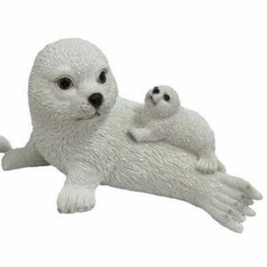 Decoratie beeld zeehond baby moeder beeldje kopen