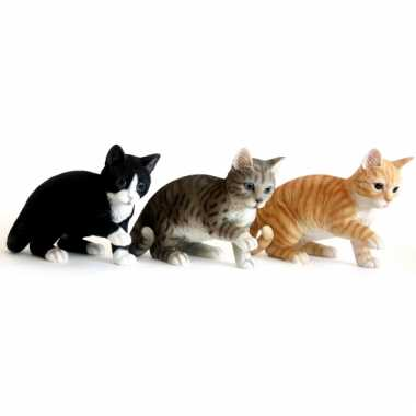 Decoratie beeldje spelende grijze kat kopen | Beeldjes ... | 380 x 380 jpeg 7kB