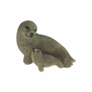 Decoratie beeldje zeehondje kopen 10068998