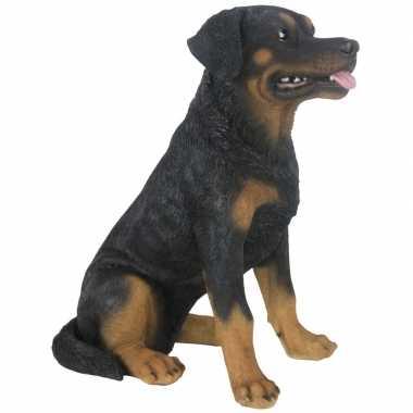 Decoratie dieren honden beeldjes rottweiler kopen