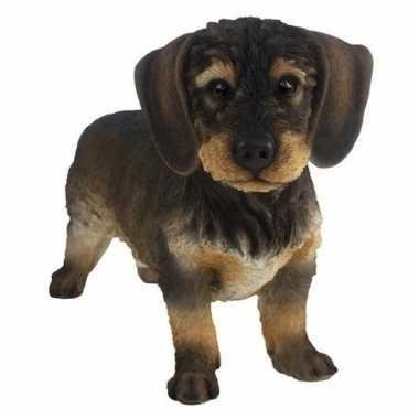 Decoratie dieren honden beeldjes teckel kopen