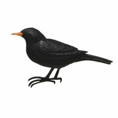 Decoratie vogel/muurvogel merel tuin beeldje kopen