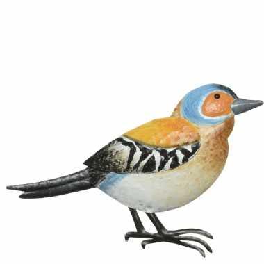 Decoratie vogel/muurvogel vink tuin beeldje kopen