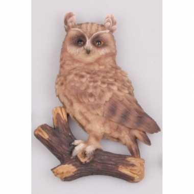 Dieren beeldje ransuilen hangdecoratie polystone kopen