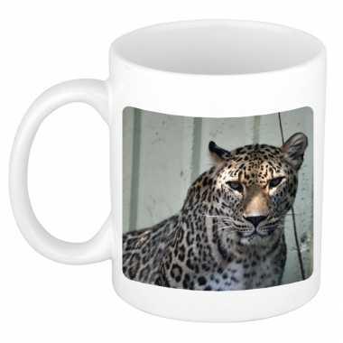 Dieren foto mok gevlekte jaguar jaguars beker wit ml beeldje kopen