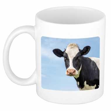 Dieren foto mok koe koeien beker wit ml beeldje kopen