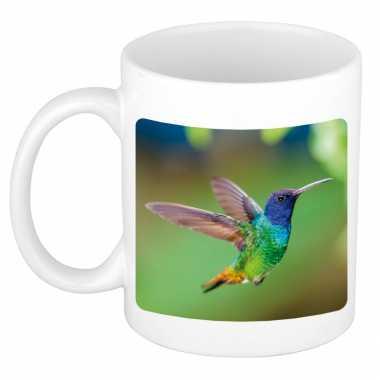 Dieren foto mok kolibrie vogel vogels beker wit ml beeldje kopen