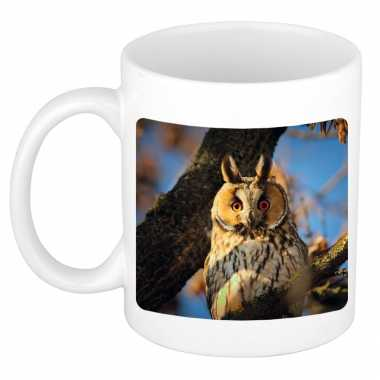 Dieren foto mok ransuil uilen beker wit ml beeldje kopen