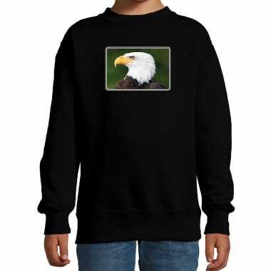 Dieren sweater / trui arenden foto zwart kinderen beeldje kopen