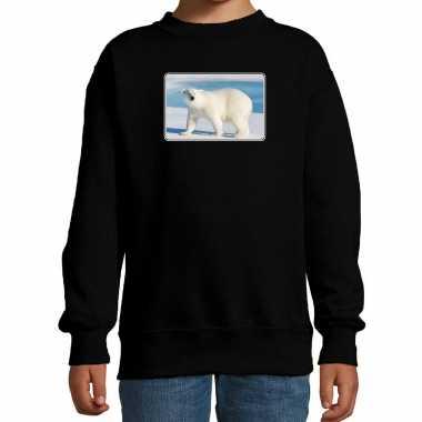 Dieren sweater / trui ijsberen foto zwart kinderen beeldje kopen