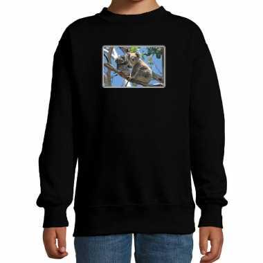 Dieren sweater / trui koalaberen foto zwart kinderen beeldje kopen