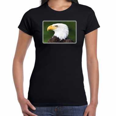 Dieren t shirt arenden foto zwart dames beeldje kopen