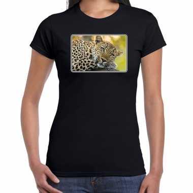 Dieren t shirt jaguars foto zwart dames beeldje kopen