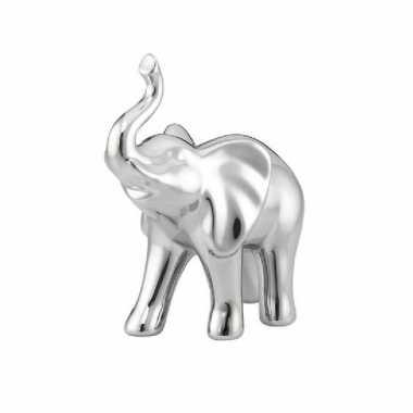 Dierenbeeld olifant zilver dolomiet beeldje kopen