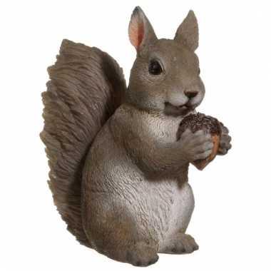 Grijze eekhoorn beeldje huiskamer woondecoratie kopen