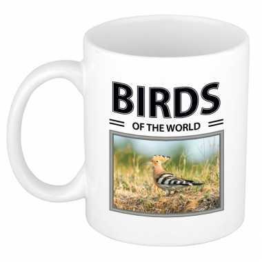 Hop vogels mok dieren foto birds of the world beeldje kopen