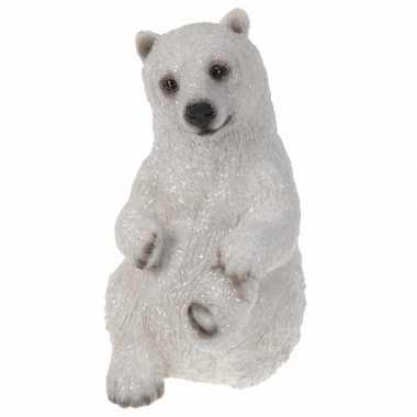 Kerstlandschap ijsbeer beeldje type kopen