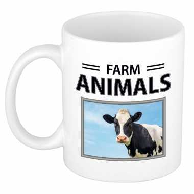 Koeien mok dieren foto farm animals beeldje kopen