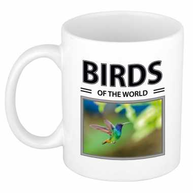 Kolibries mok dieren foto birds of the world beeldje kopen