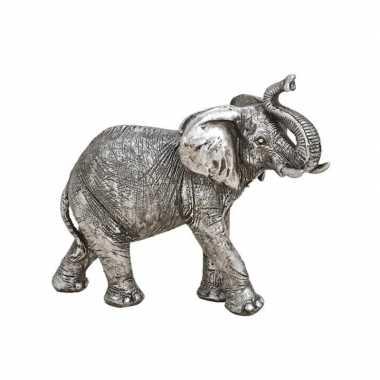 Olifant woondecoratie dieren beeldje zilver kopen