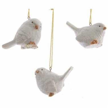 Ophang decoratie vogeltje wit beeldje kopen