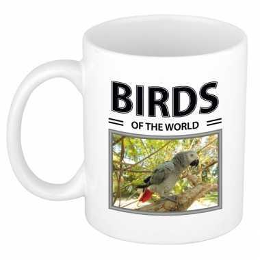 Papegaaien mok dieren foto birds of the world beeldje kopen