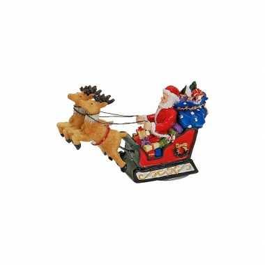 Polystone kerstman beeldje kopen