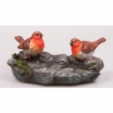 Roodborstjes steen beeldje kopen