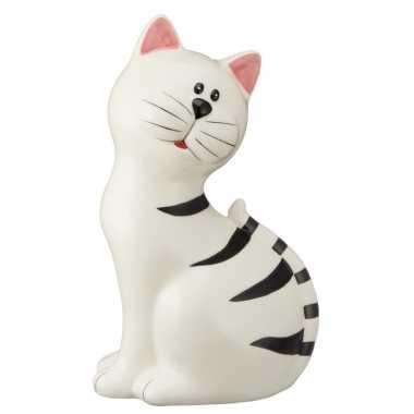 Spaarpot dierenbeeldje witte kat kopen