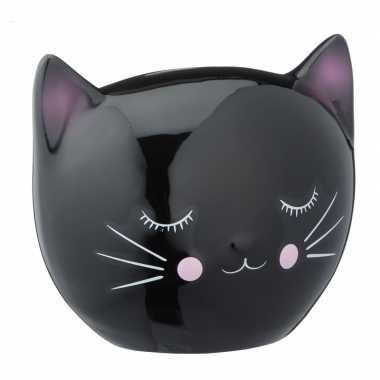 Spaarpot dierenbeeldje zwarte kat kopen