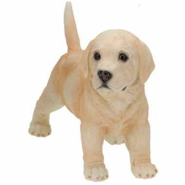 Stenen Labrador puppy staand beeldje kopen