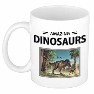 T rex dinosaurus mok dieren foto amazing dinosaurs beeldje kopen