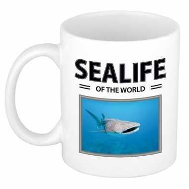 Tijgerhaai mok dieren foto sealife of the world beeldje kopen