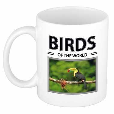 Toekans mok dieren foto birds of the world beeldje kopen