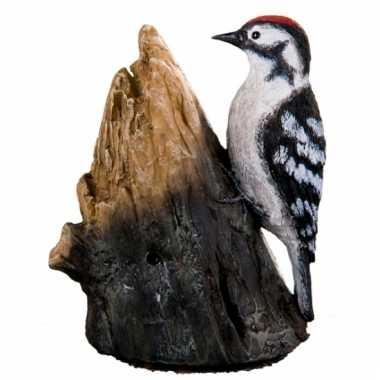 Tuin decoratie vogel grote bonte specht geluid, beeldje kopen