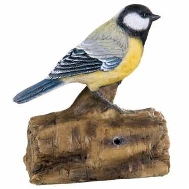 Tuin decoratie vogel koolmees geluid , beeldje kopen