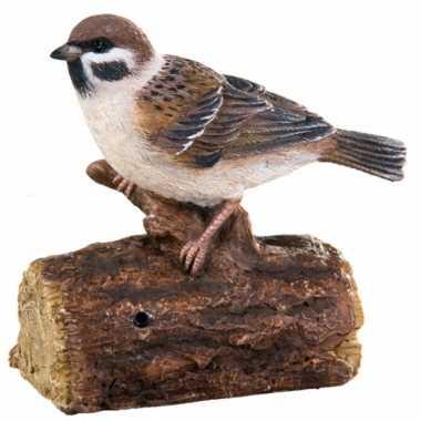 Tuin decoratie vogel mus geluid , beeldje kopen
