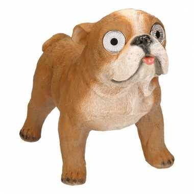 Tuinbeeld franse bulldog led oogjes c m beeldje kopen
